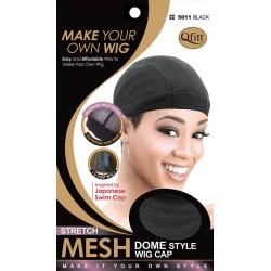 Bonnet - filet épais noir pour perruque - mesh dome cap