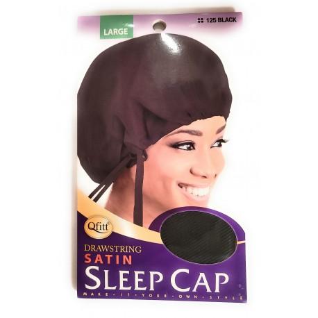 Bonnet de nuit en satin avec attaches