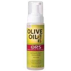 Organic root stimulator - Olive oil wrap set mousse (207ml)