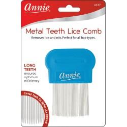 Peigne anti poux et lentes avec dents en métal Annie