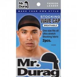 Bonnets noirs pour waves Mr Durag (lot de 2)