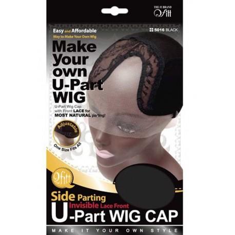 Bonnet pour perruque - U part wig - raie sur le côté - invisible lace front
