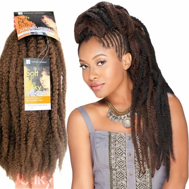 Mèches pour tresses Afro Twist Sensationnel Soft\u0027n\u0027Silky