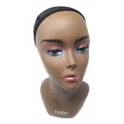 Tête mannequin noire Outre pour perruques ou tissages maison