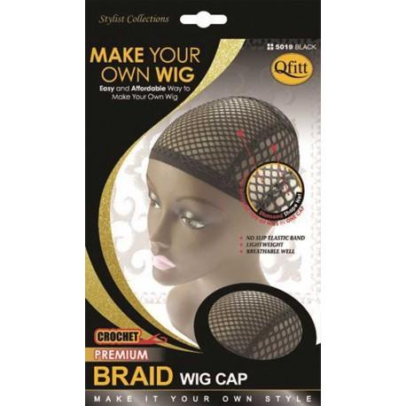 Bonnet-filet tresses au crochet - braid wig cap